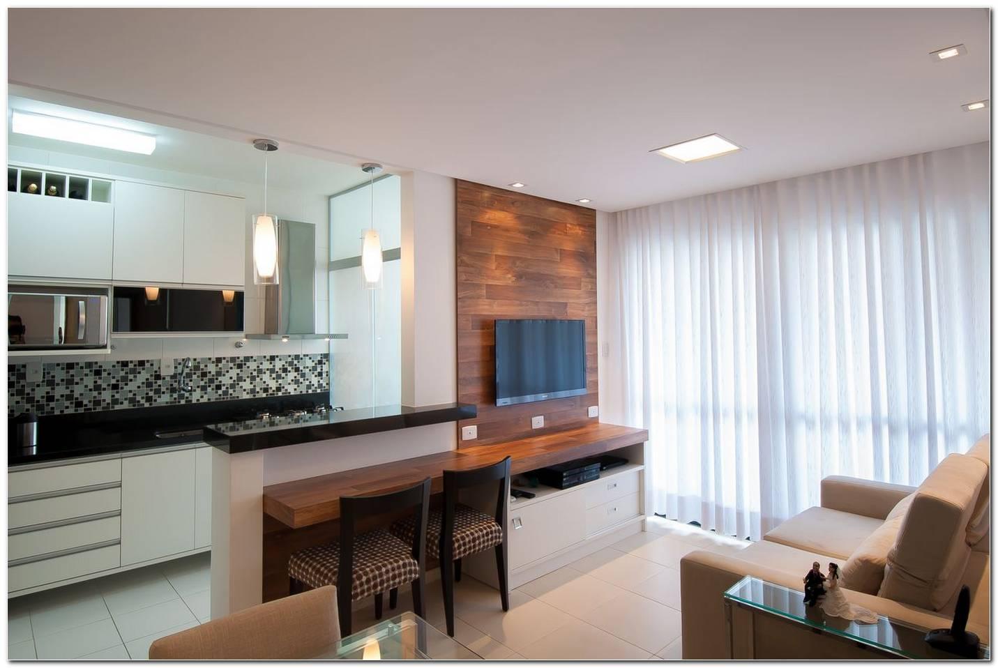 Cozinha Americana Com Sala De Estar Simples