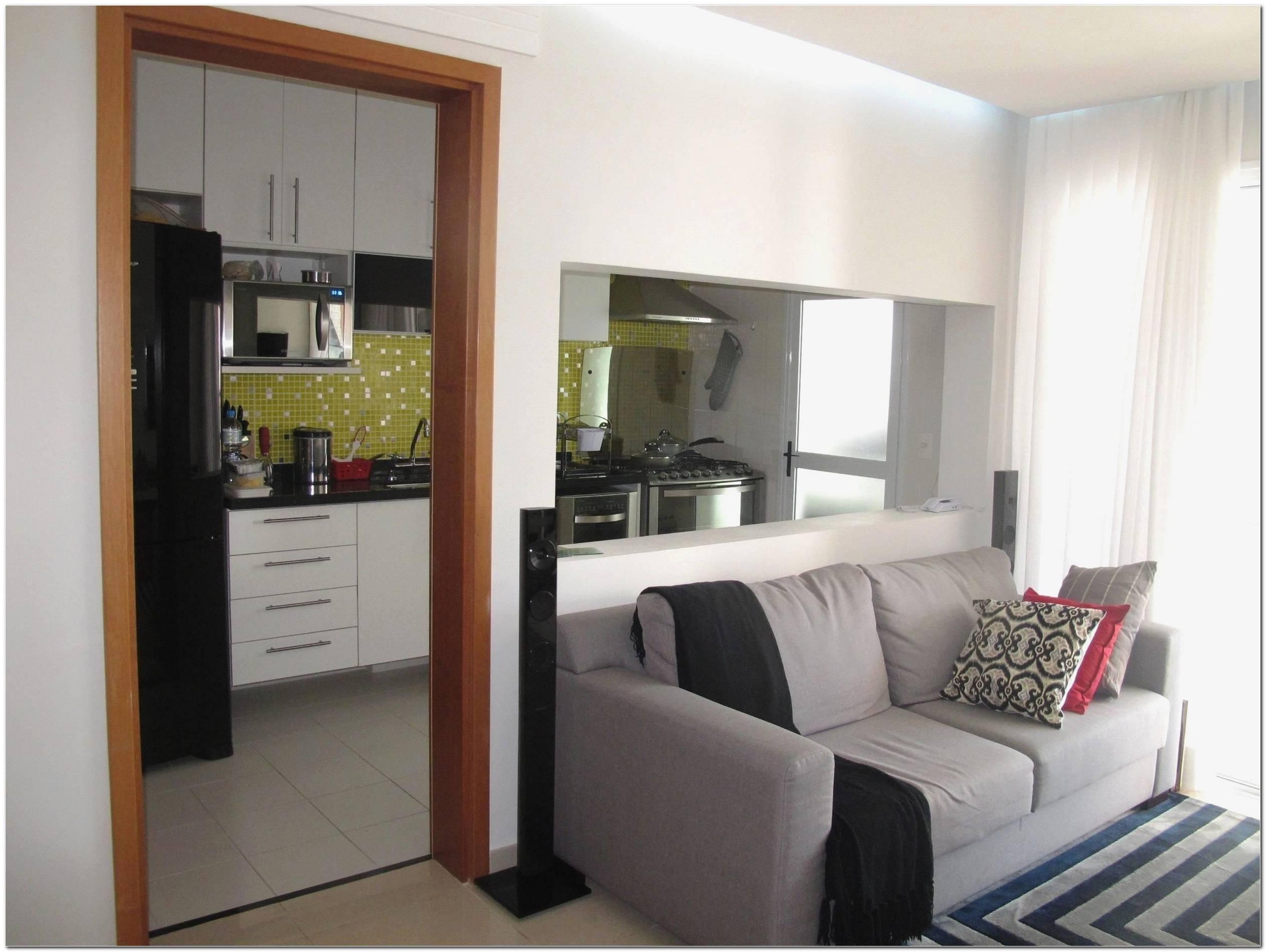Cozinha Americana Com Sala Pequena Simples