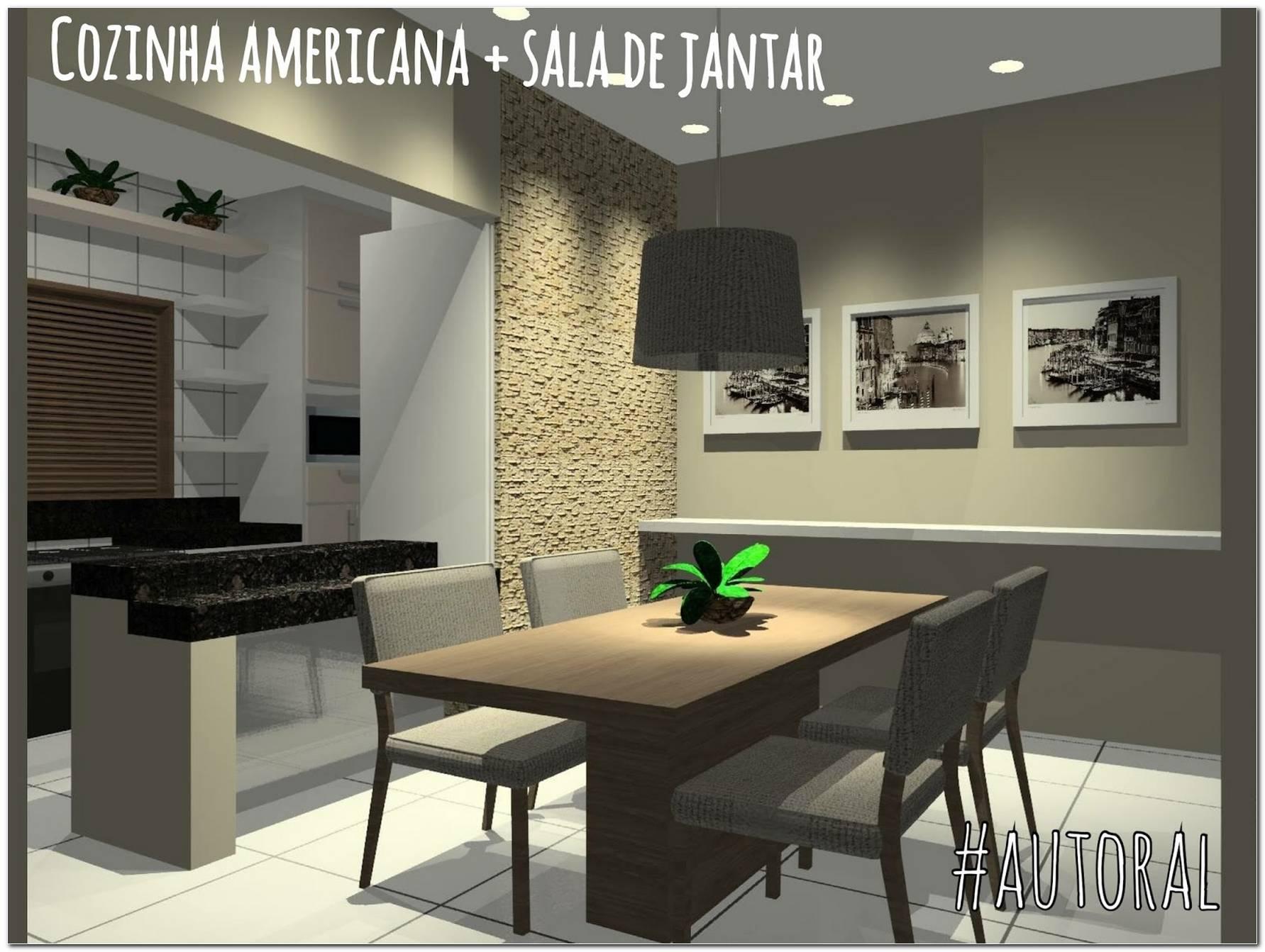 Cozinha Americana Grande Com Sala De Jantar