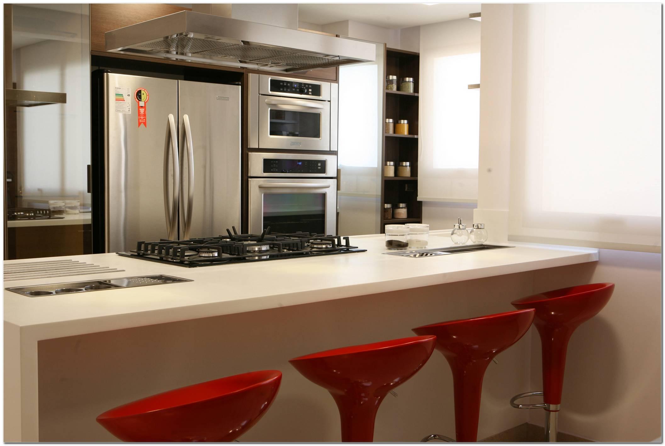 Cozinha Com Balcão Moderno