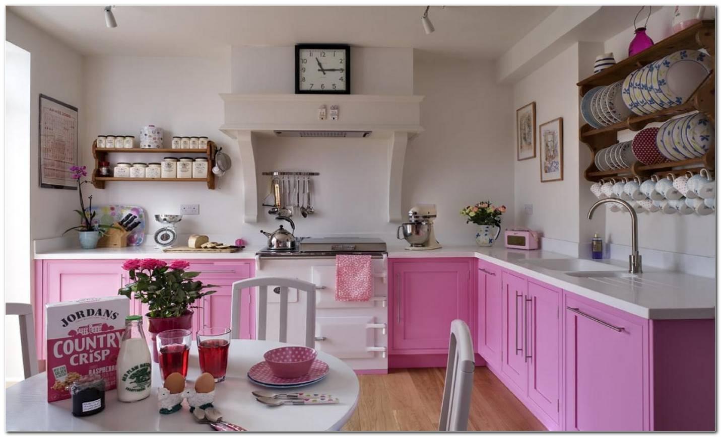 Cozinha Decorada Com A Cor Rosa