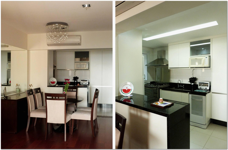 Cozinha E Sala De Jantar Juntas
