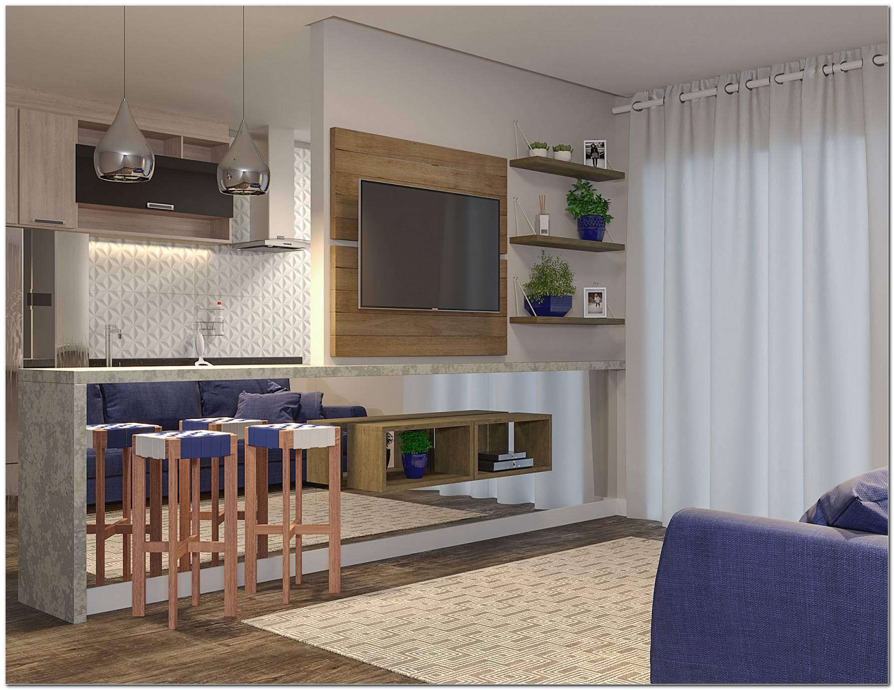 Cozinha E Sala Pequena Integrada