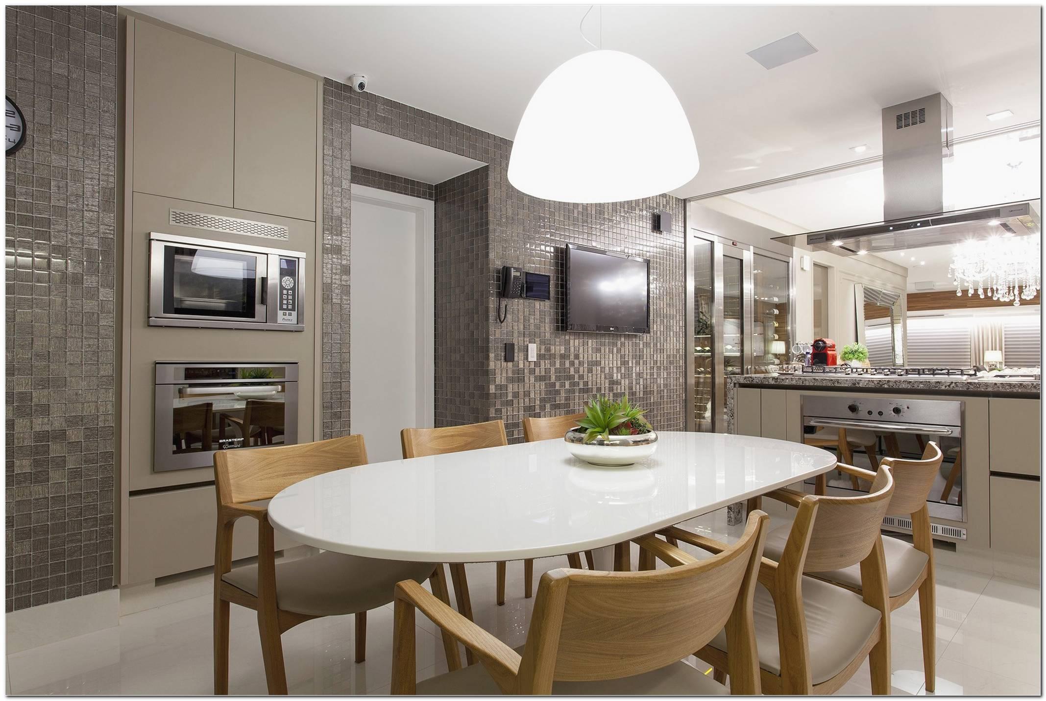 Cozinha Grande Com Ilha Com Sala De Jantar