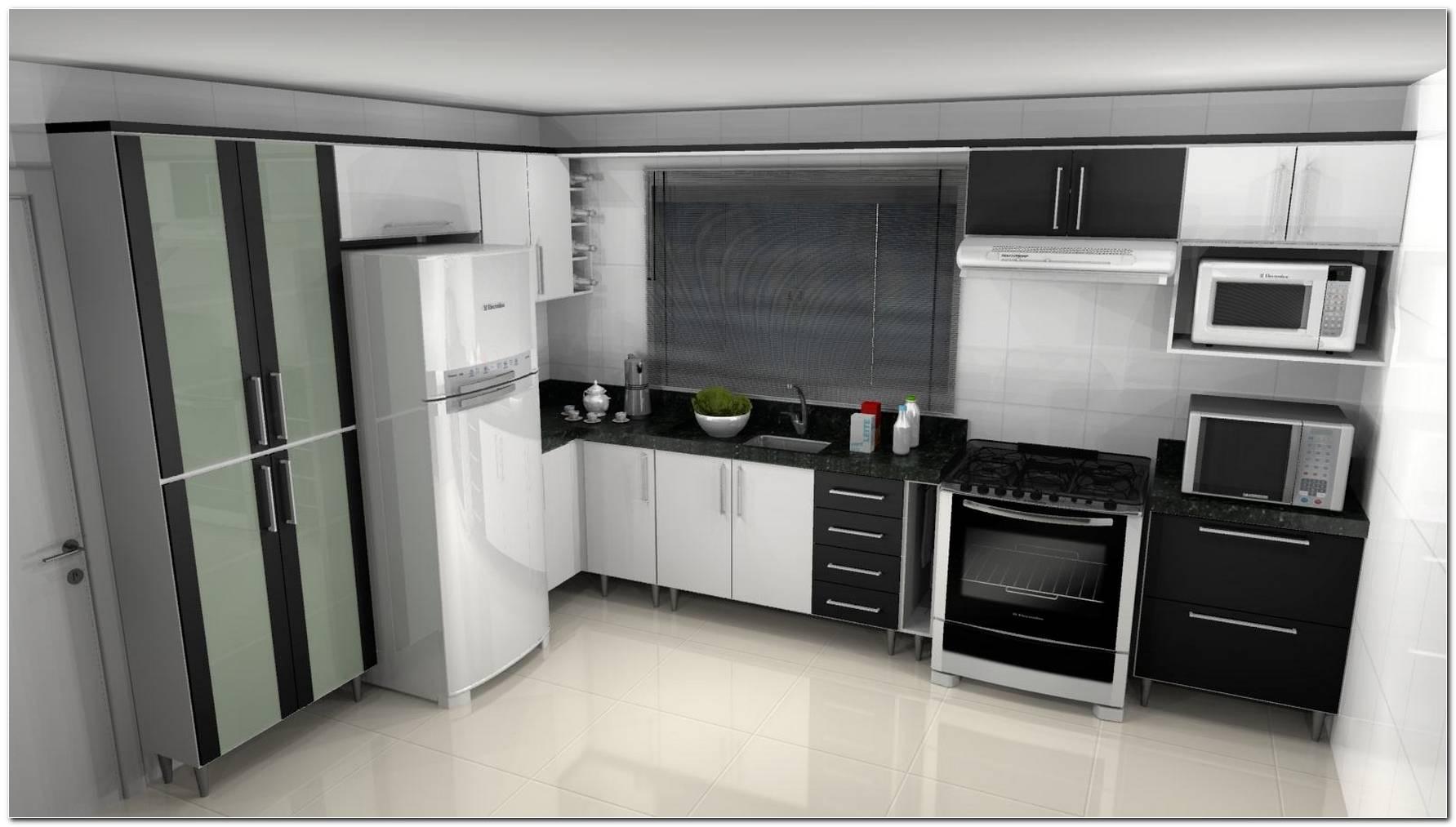 Cozinhas Decoradas Em Preto E Branco