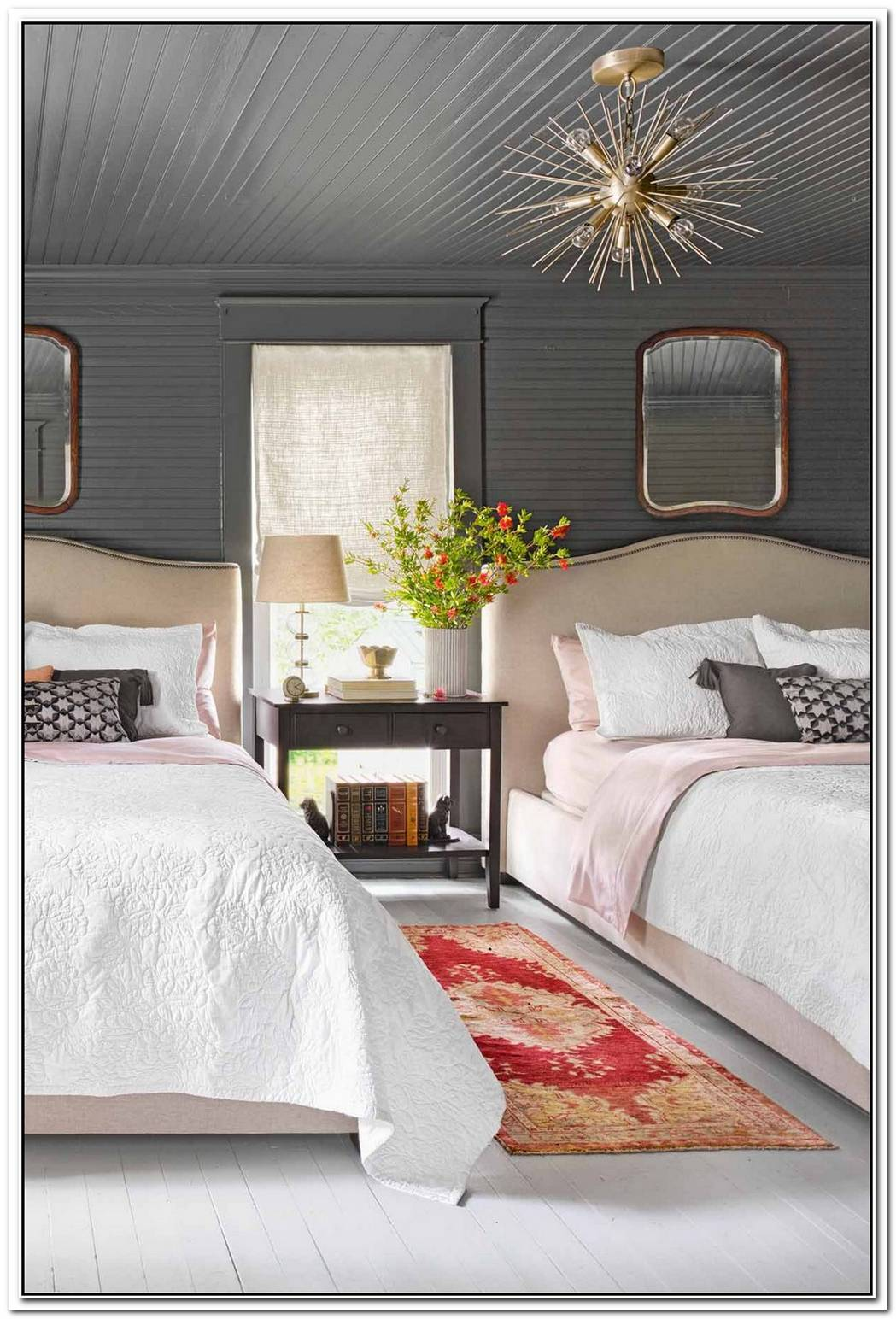 Cozy Black Guest Bedroom Makeover