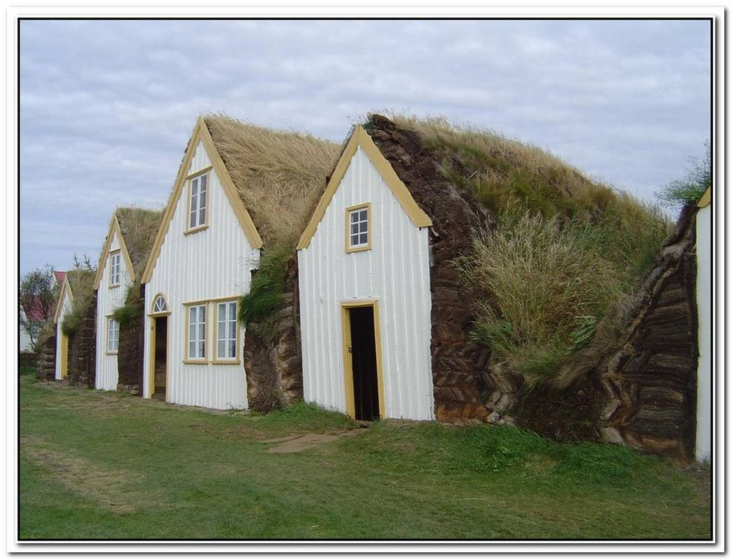 Cozy Green Roofed Turf Houses In Iceland