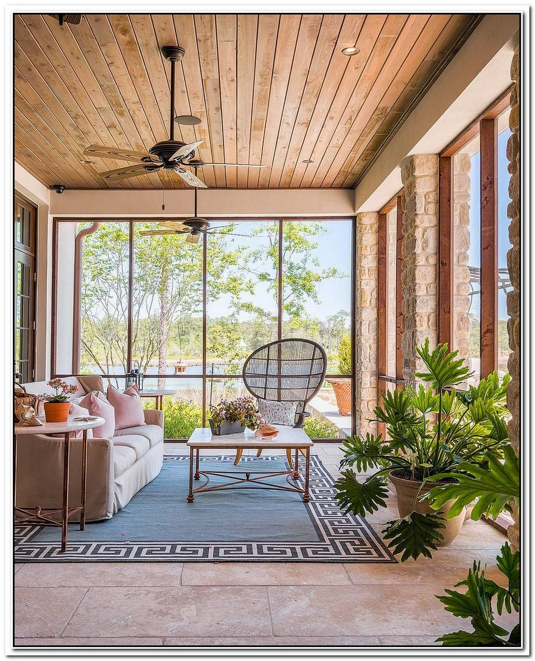 Cozy Retreat For Summer And BeyondSunroom Seating Ideas
