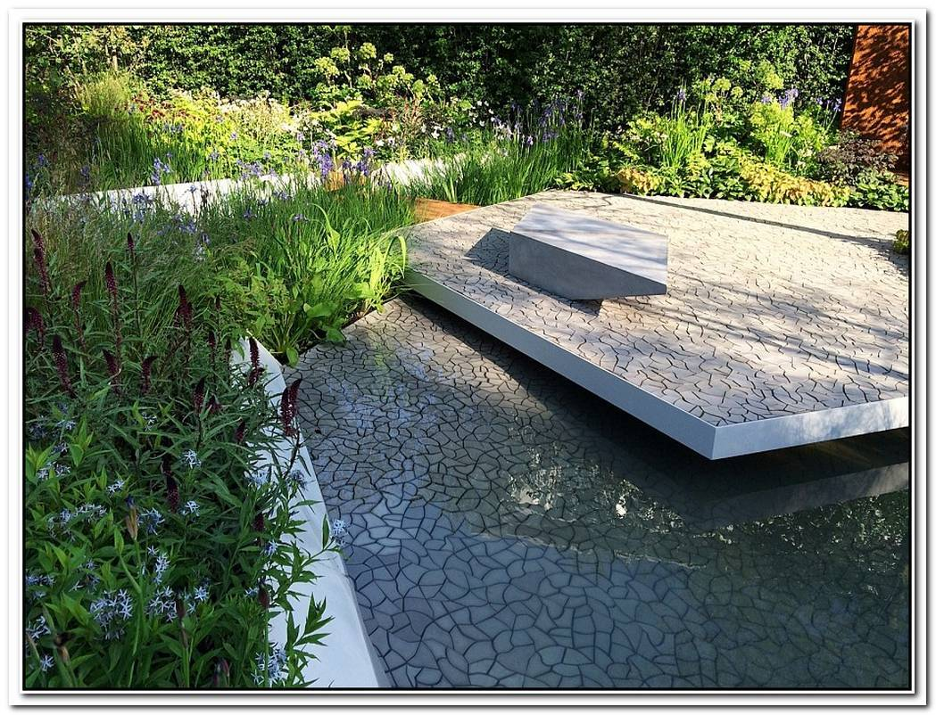 Cracked Earth Concrete Tiles Debut In Style At The RHS Chelsea Flower Show 2014