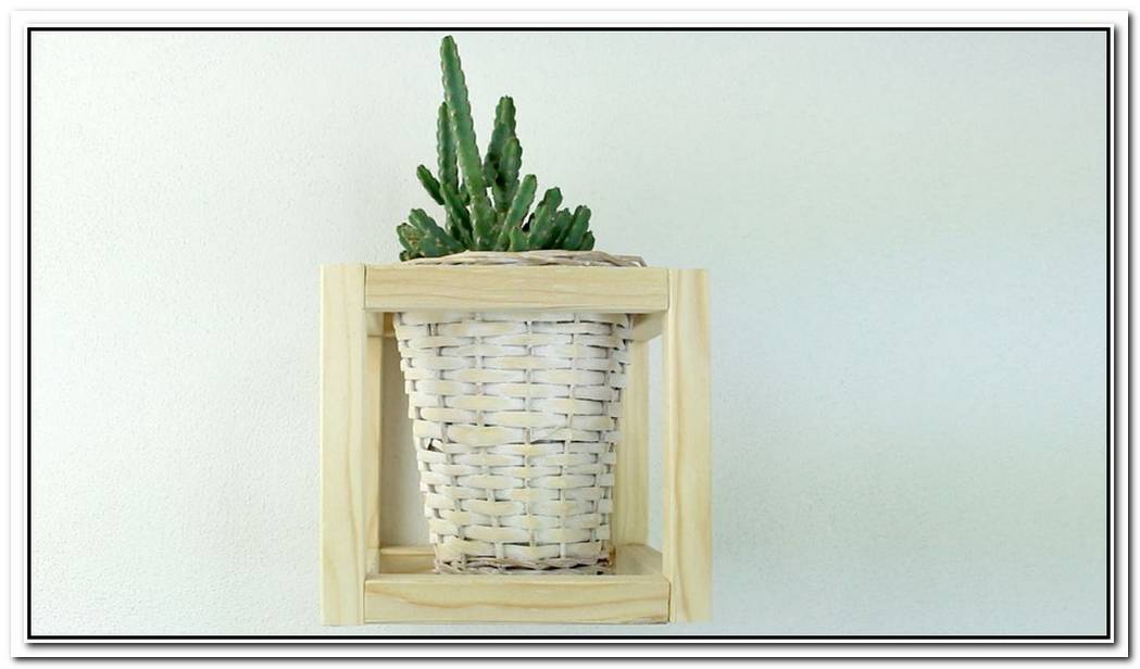 Create A Classy Wood Cube Plant Holder