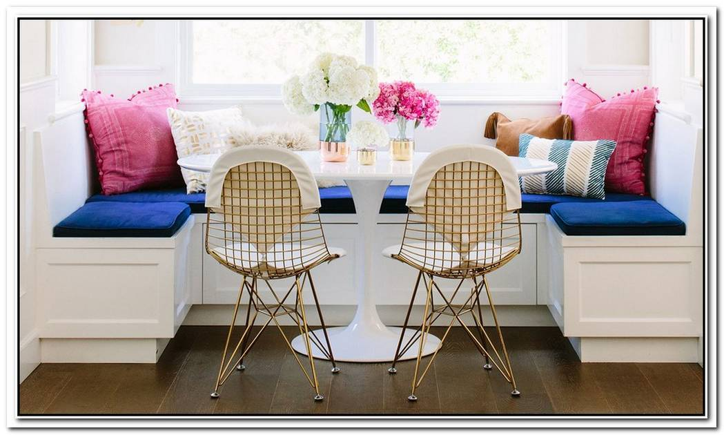 Create A Colorful Breakfast Nook Like This One
