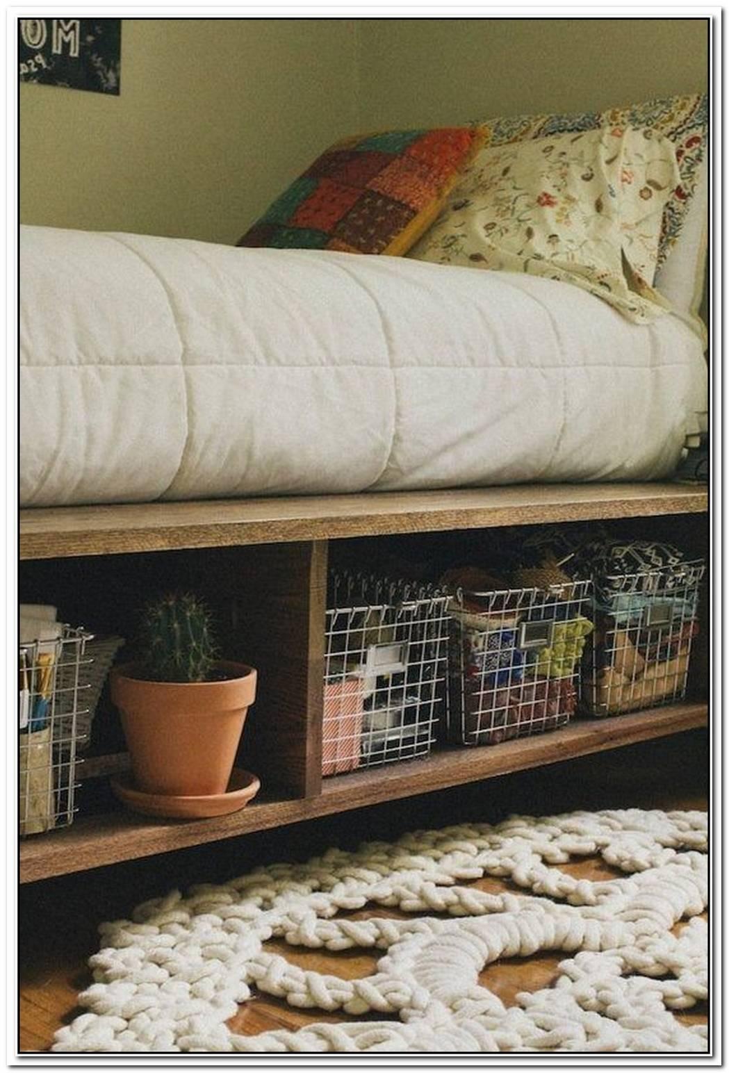 Creative Platform Storage Bed Ideas