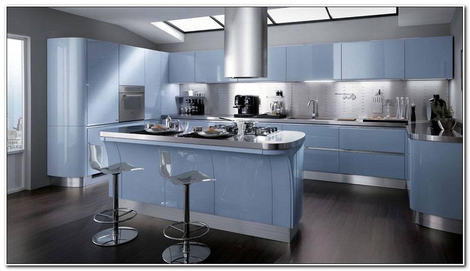 Cuisine Gris Et Bleu