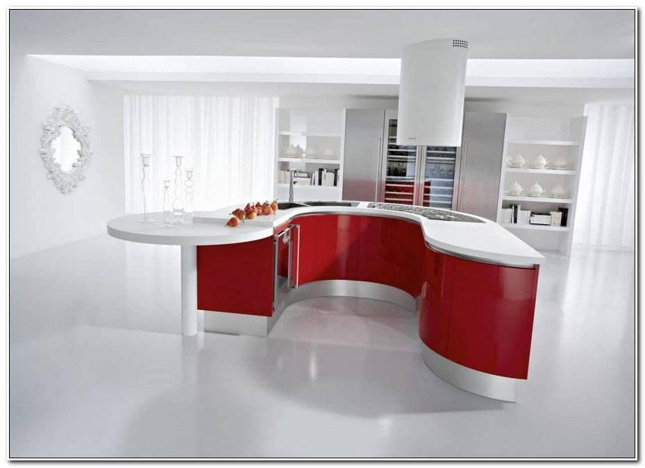 Cuisine Moderne Blanche Et Rouge