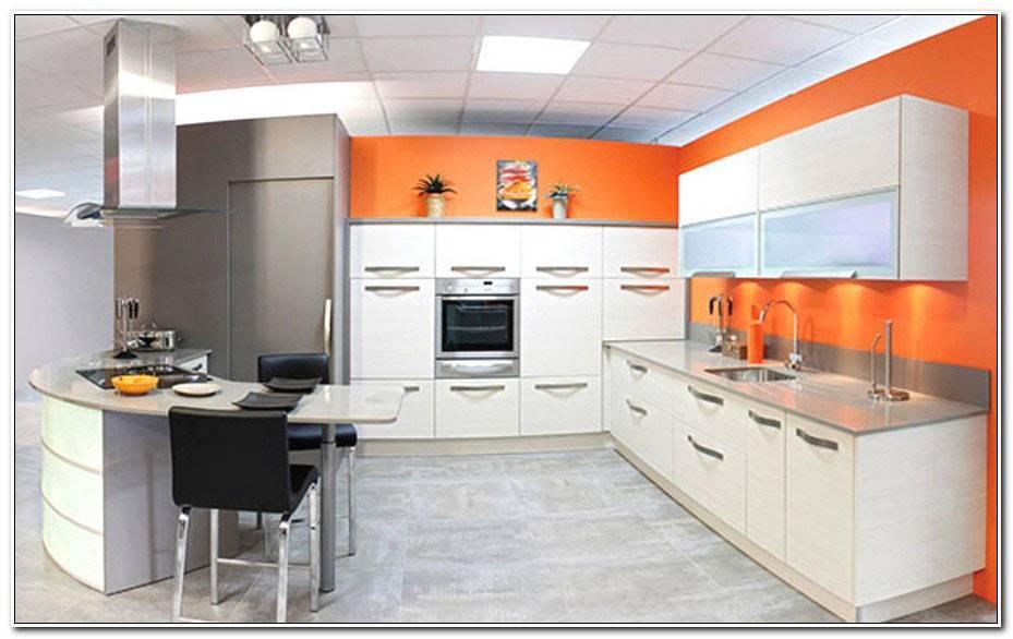 Cuisine Orange Et Blanche
