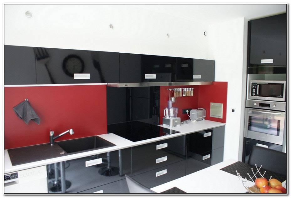 Cuisine Rouge Et Noir Moderne