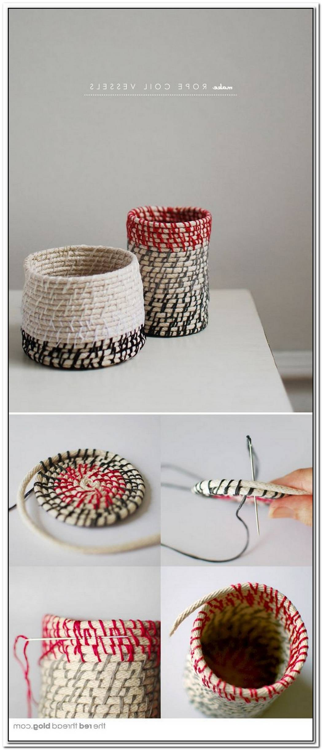 Cute Diy Coiled Rope Basket
