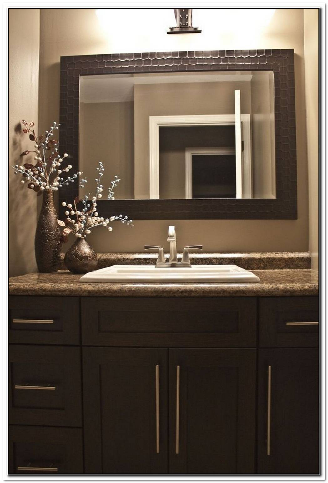 Dark Brown Bathroom Cabinet