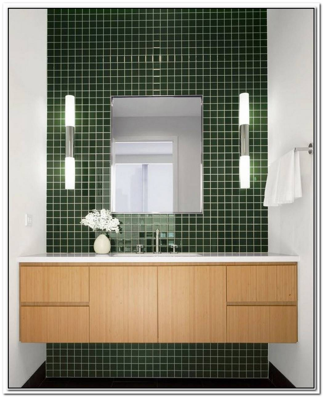Dark Green Bathroom Modern
