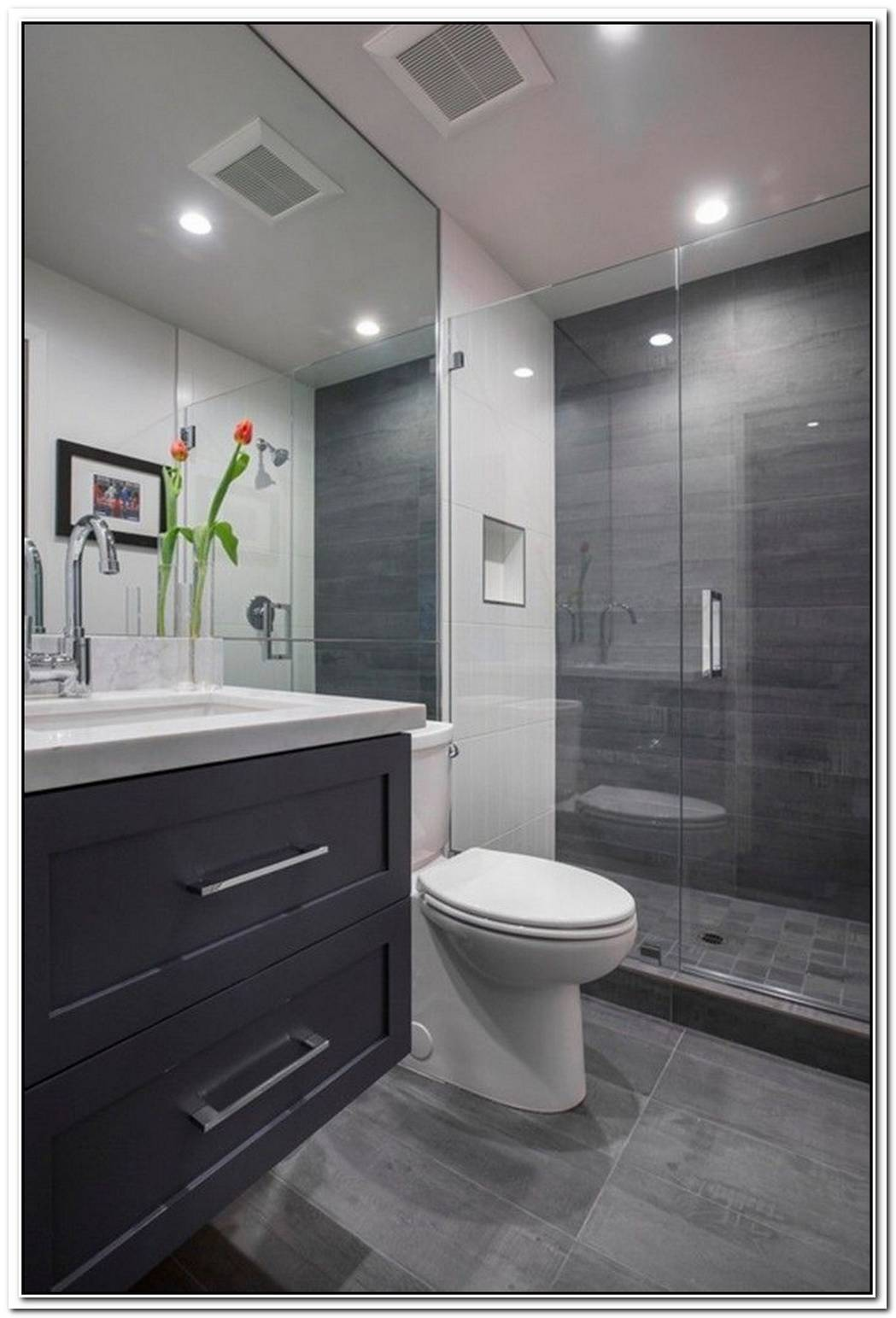 Dark Grey Bathroom Bathroom Design