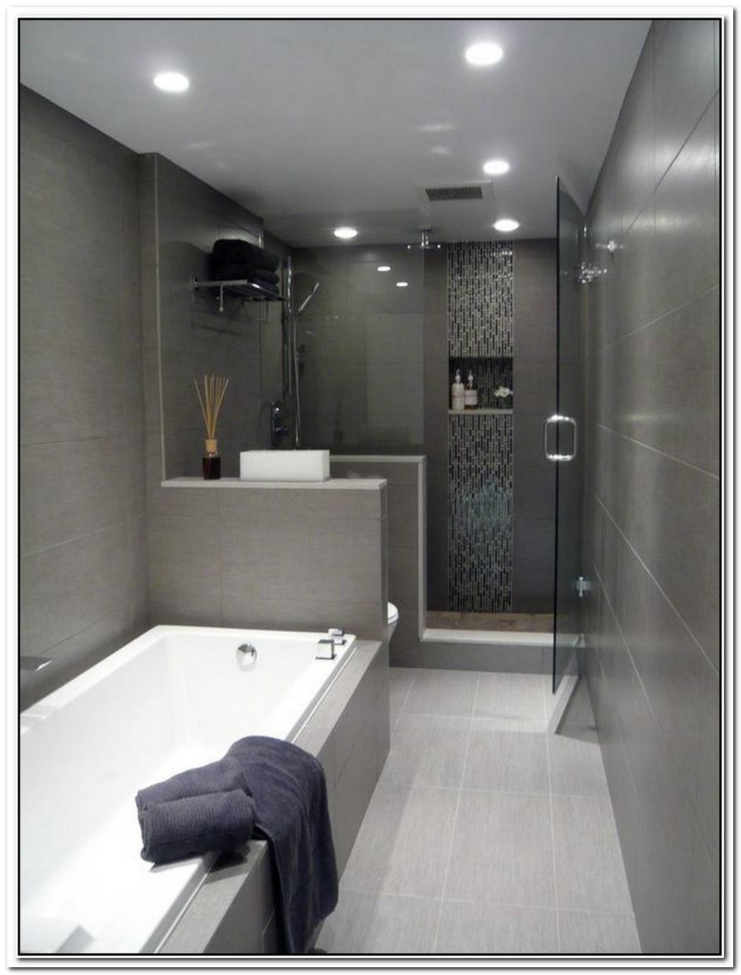 Dark Grey Bathroom Narrow