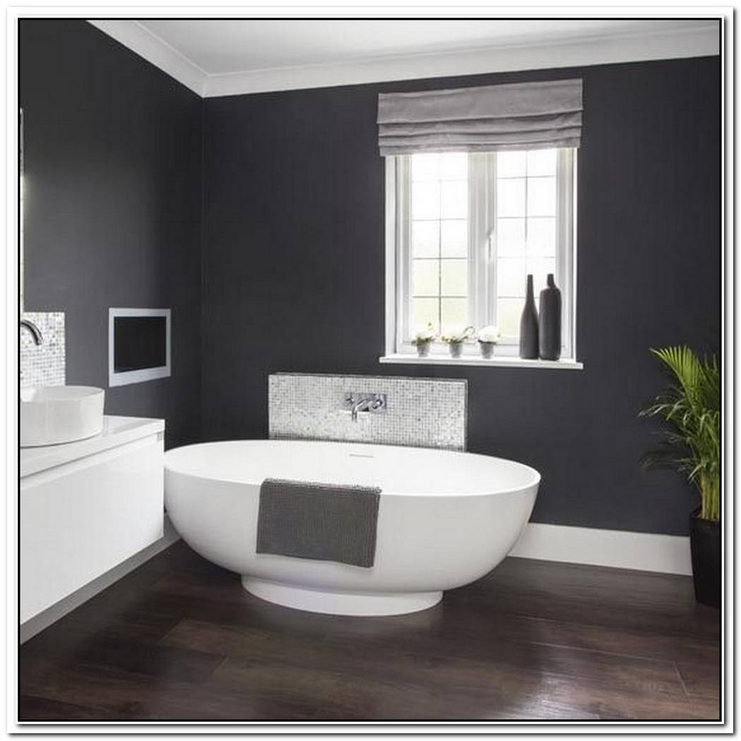 Dark Grey Bathroom Walls