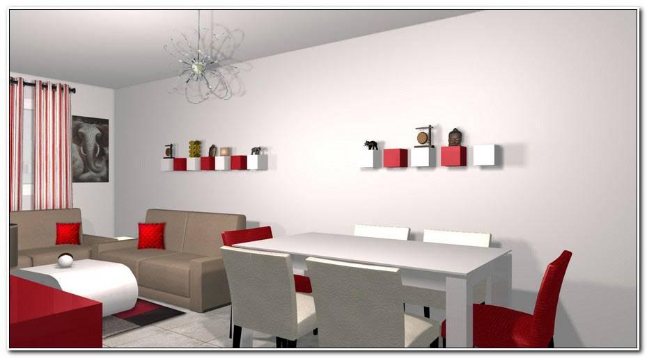Deco Gris Et Rouge Salon