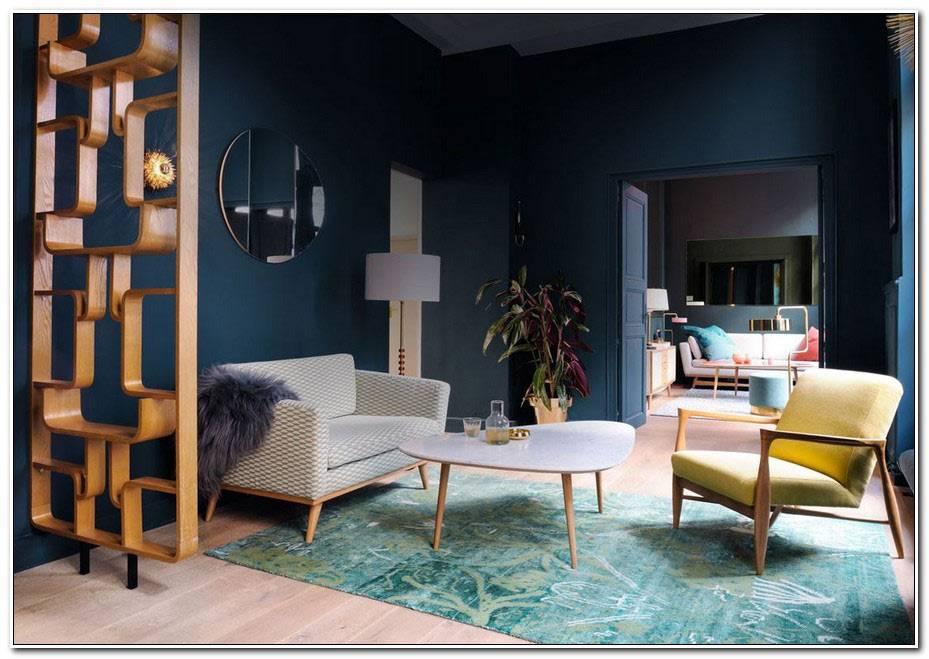 Deco Salon Bleu Vintage