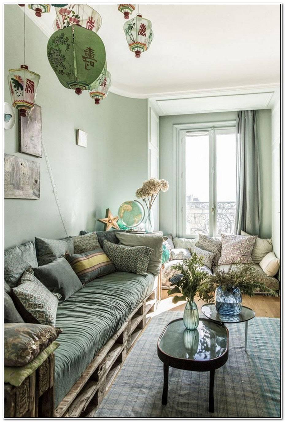 Deco Salon Vert Deau