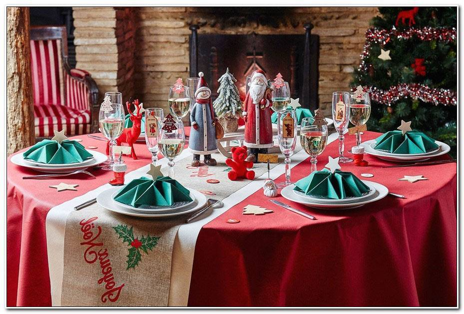 Deco Table Noel Rouge Et Vert