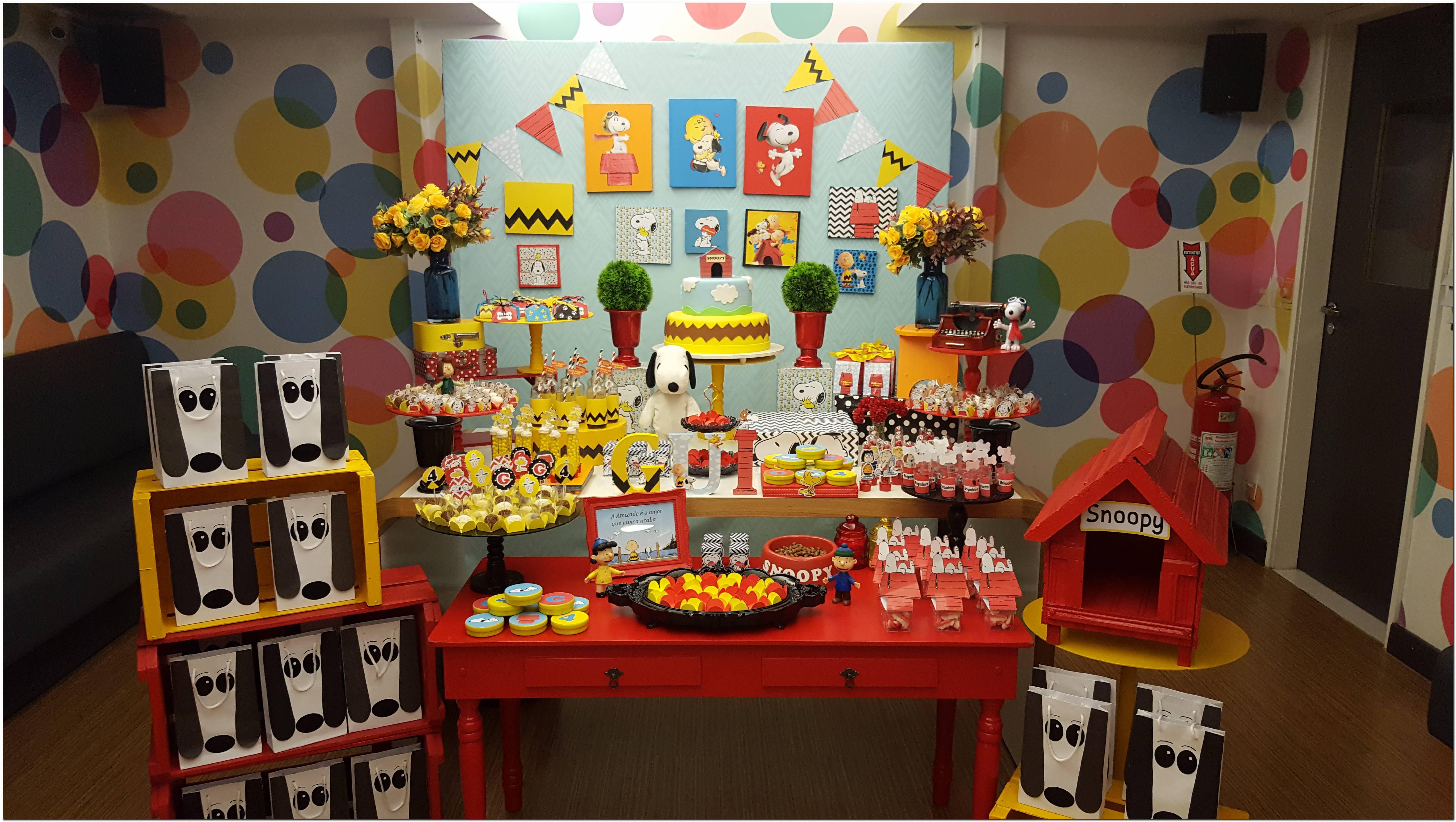 Decoração Aniversario Snoopy