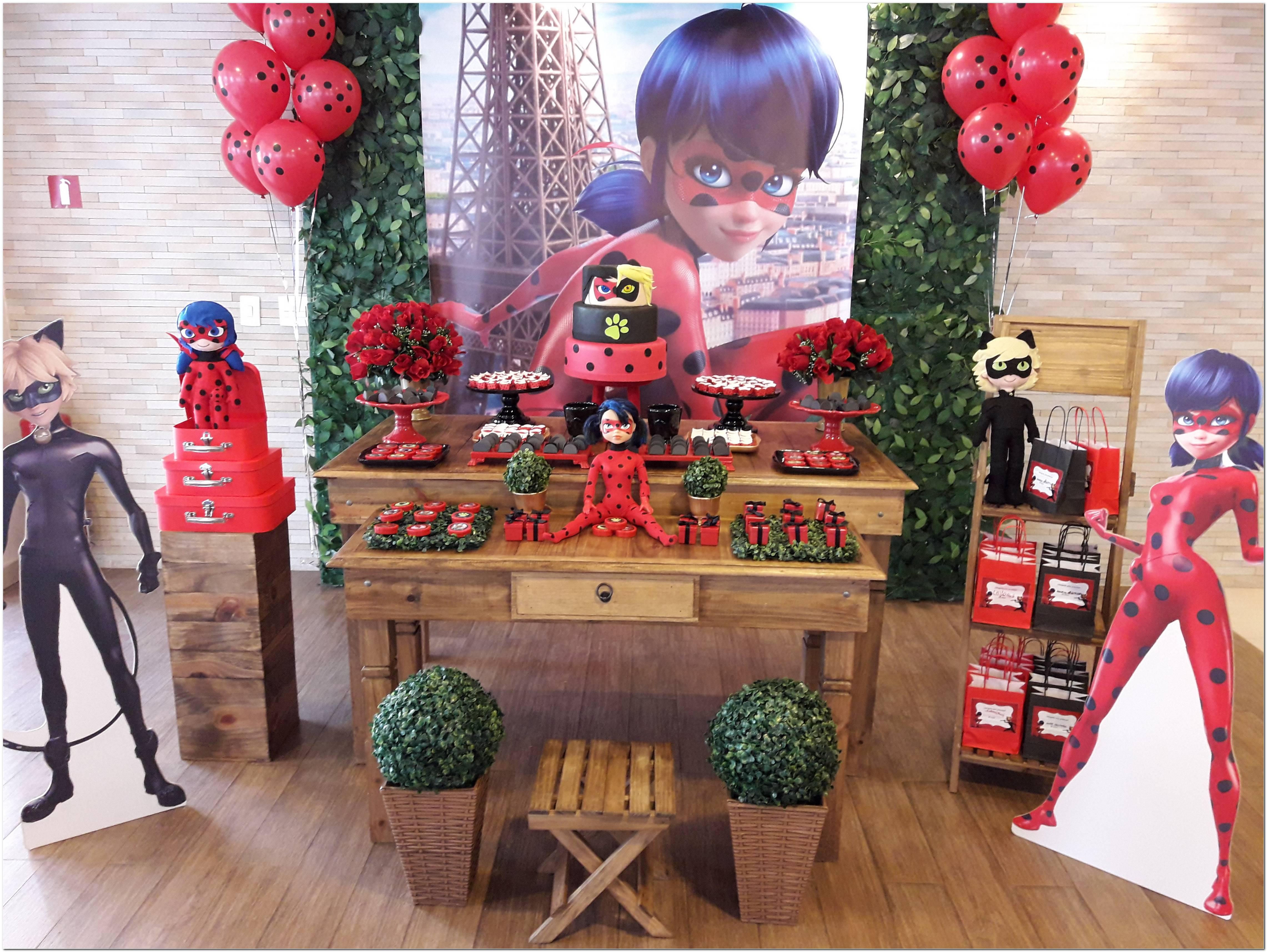 Decoração De Festa Infantil Da Ladybug