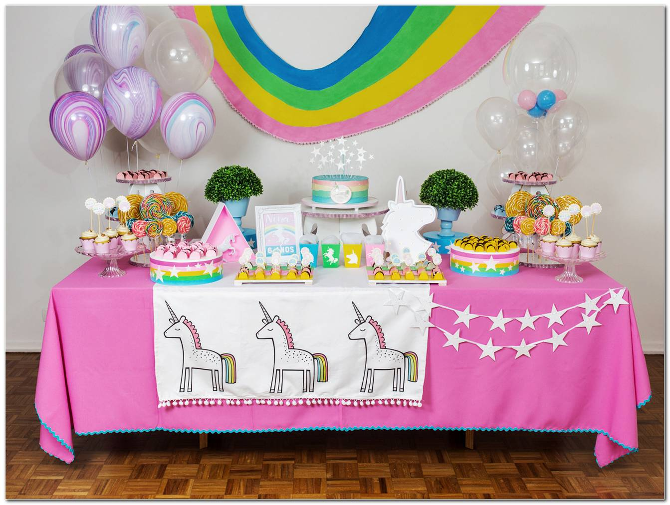 Decoração De Festa Infantil Unicornio