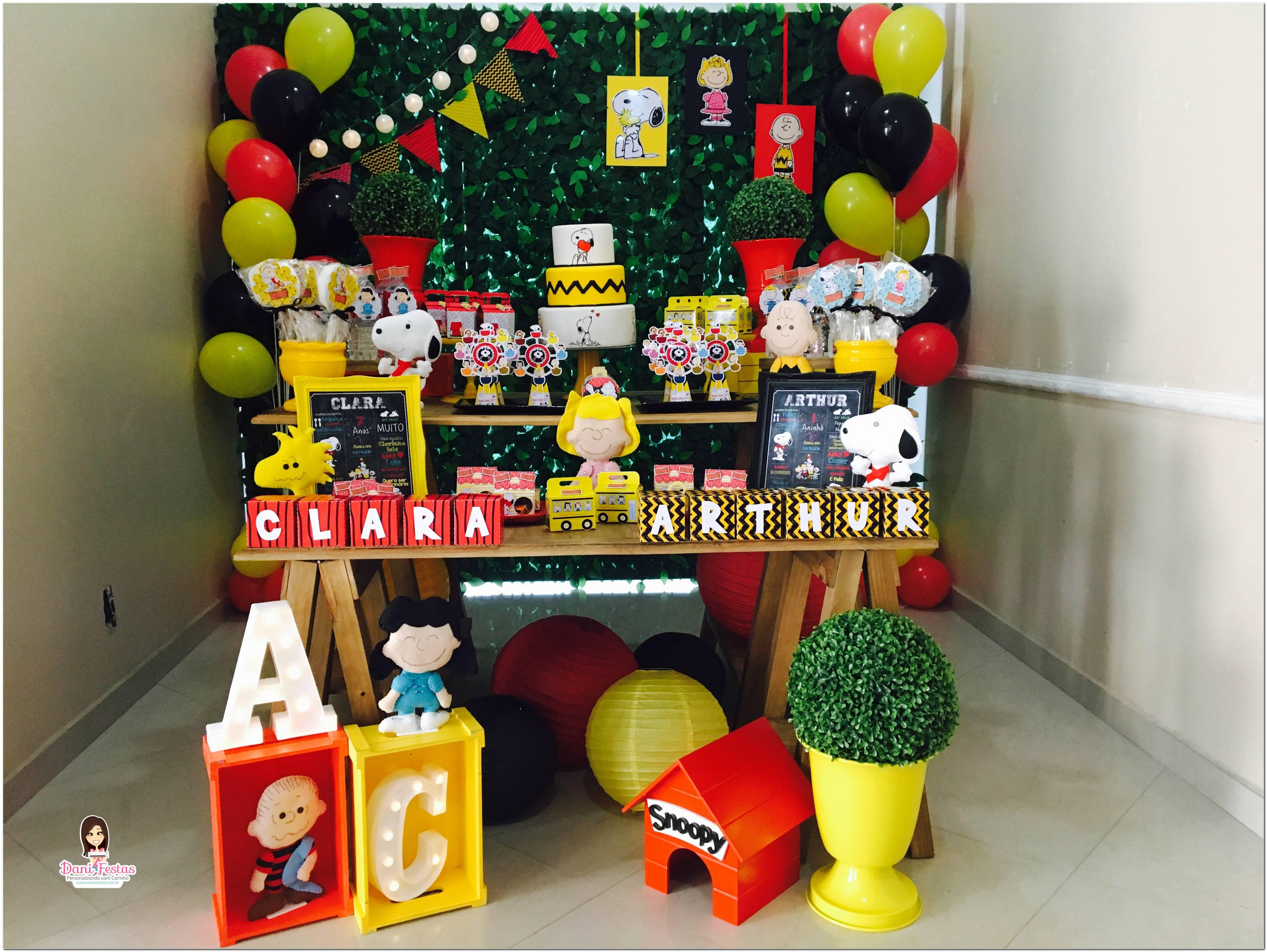 Decoração De Festa Tema Snoopy