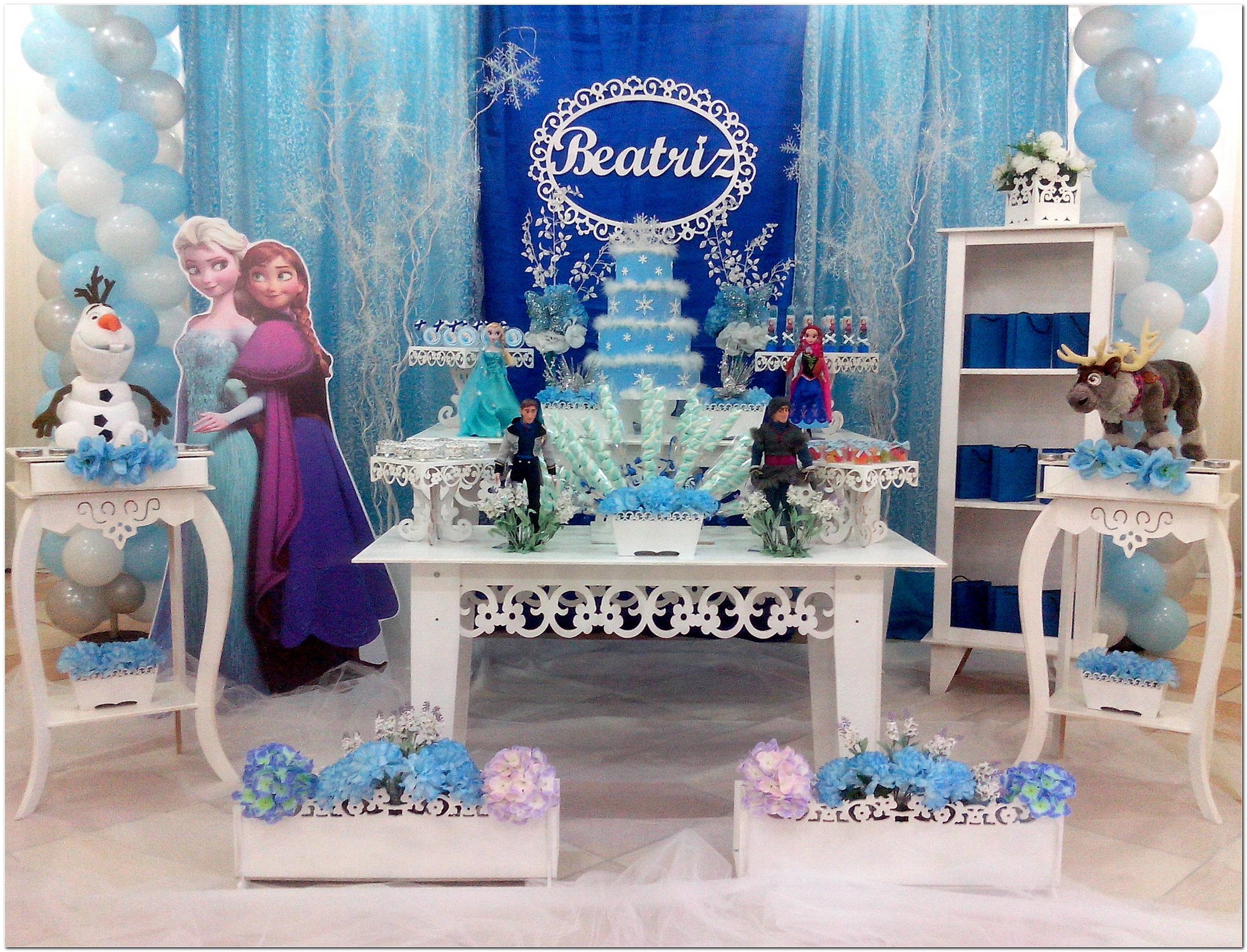 Decoração Festa Da Frozen