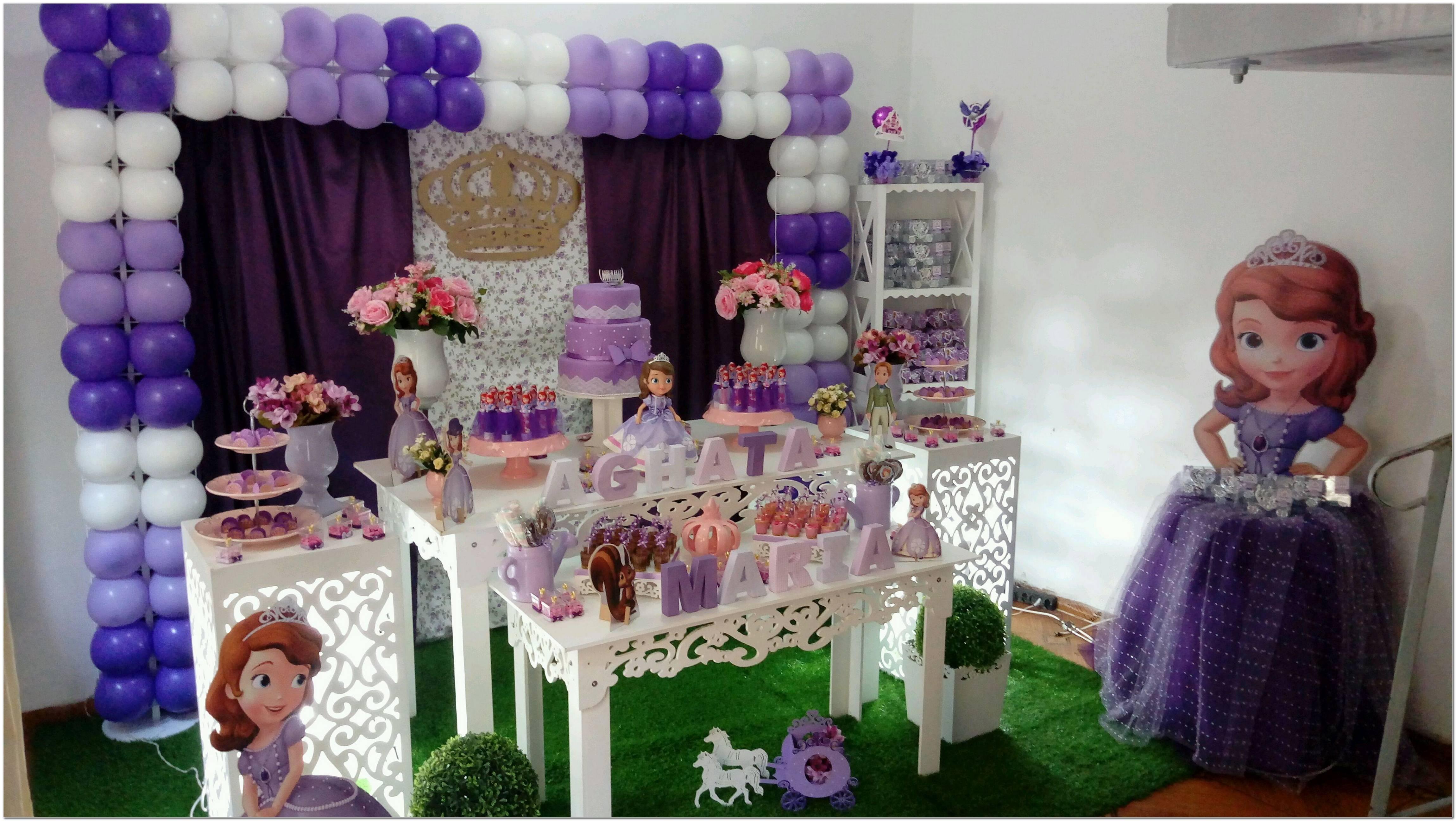Decoração Para Festa Da Princesa Sofia