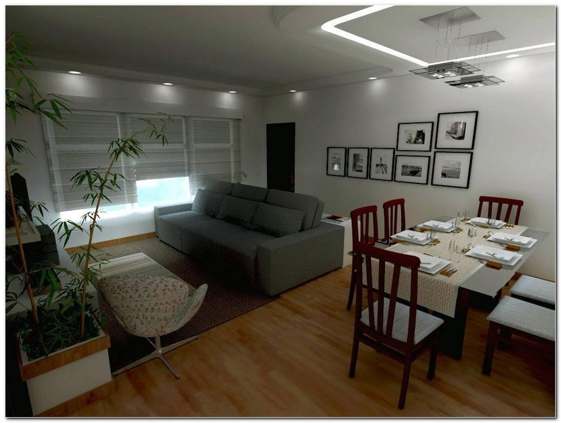 Decoracao De Sala Pequena Com Dois Ambientes