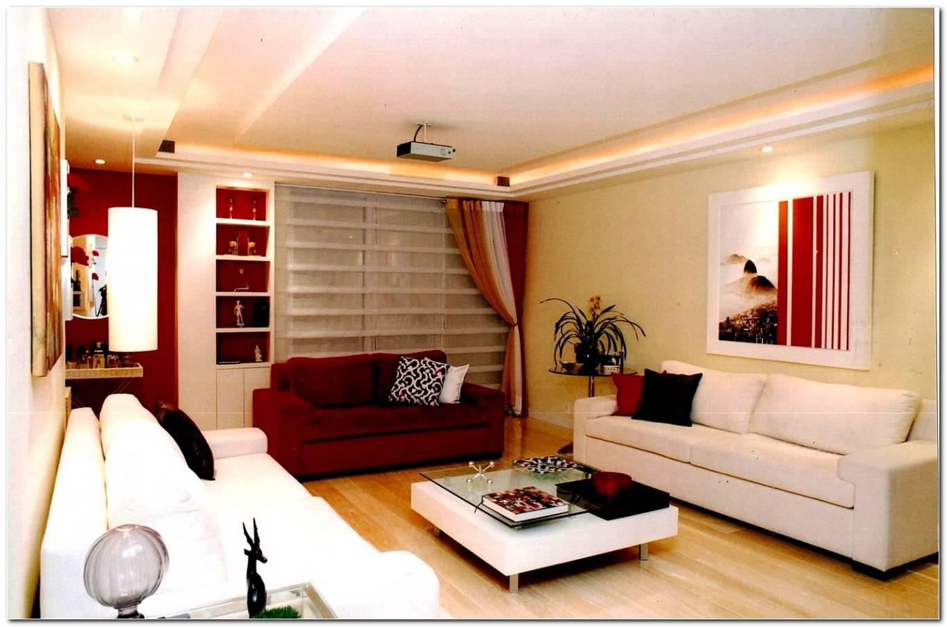 Decoracao De Sala Pequena Com Sofa Vermelho