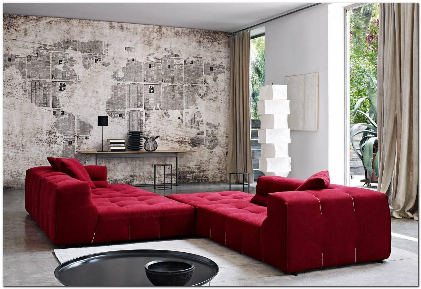 Decoracao De Sala Sofa Vermelho
