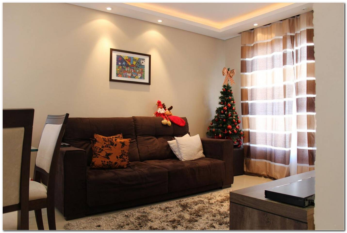 Decoracao Sala De Estar Sofa Marrom