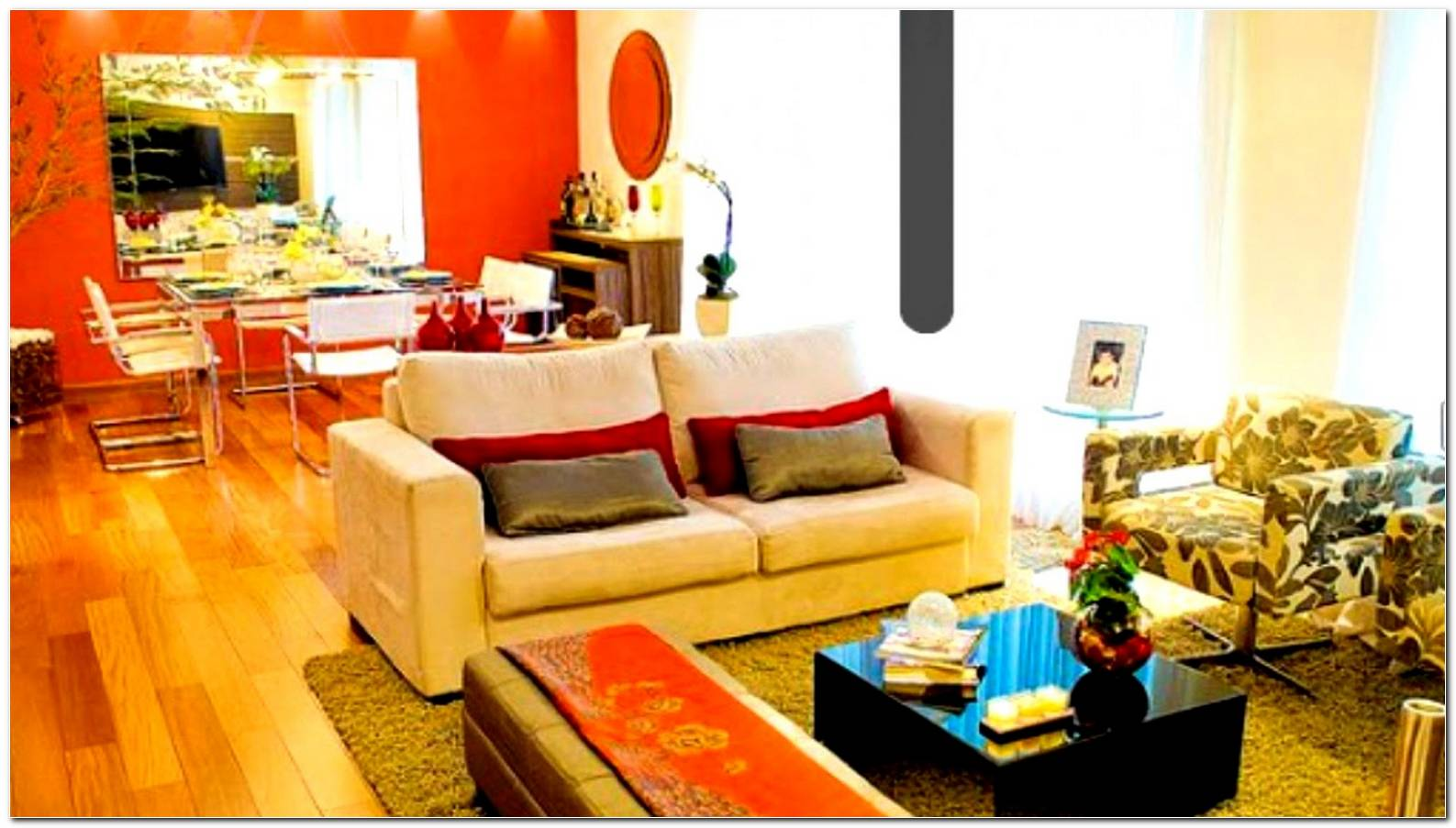 Decoracion Sala Comedor Naranja