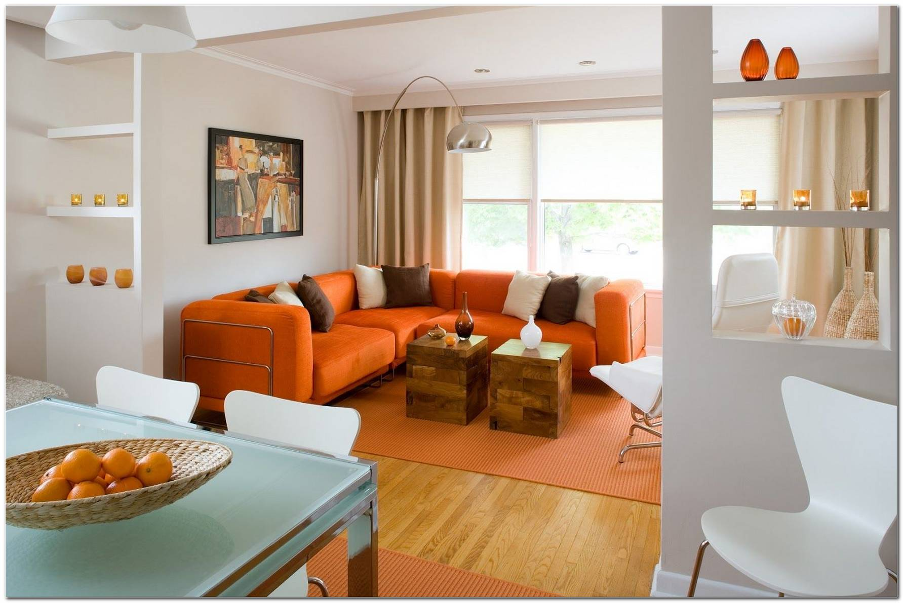 Decoracion Sala De Estar Naranja
