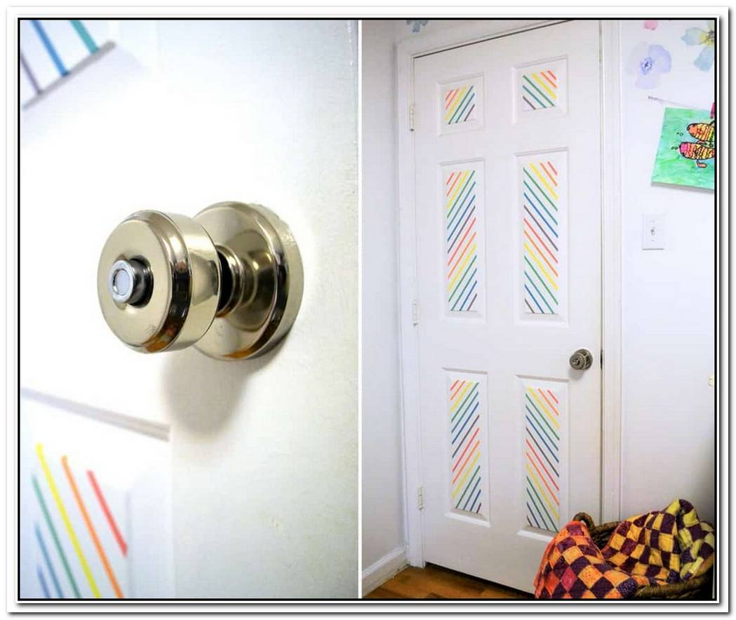 Decorate Doors With Washi Tape