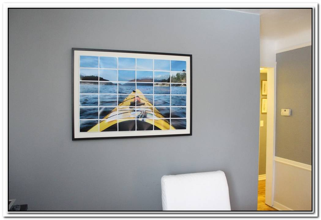 Decorate Your Empty Walls With A Diy Enlarged Photo Art