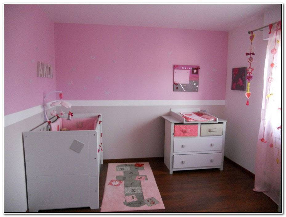 Decoration Chambre Bebe Fille Gris Et Rose 2