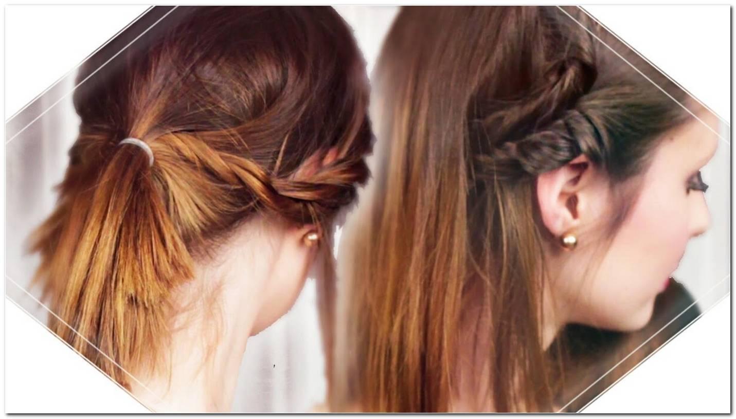 Einfache Frisur Halblange Haare