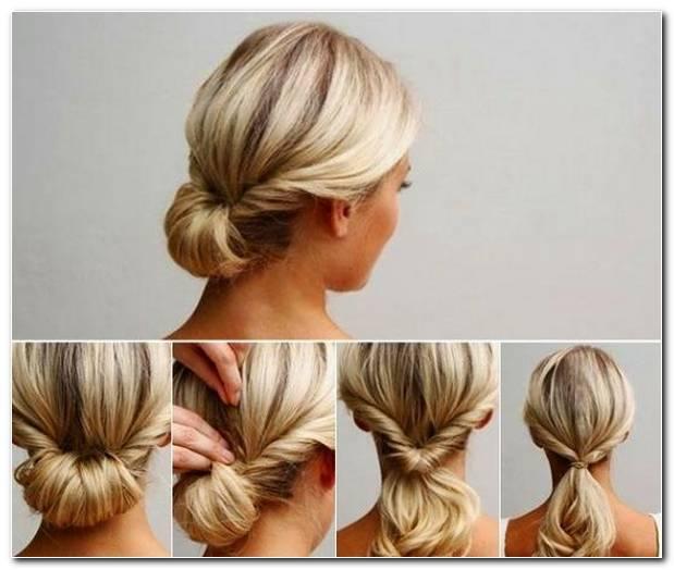 Einfache Frisur Lange Haare