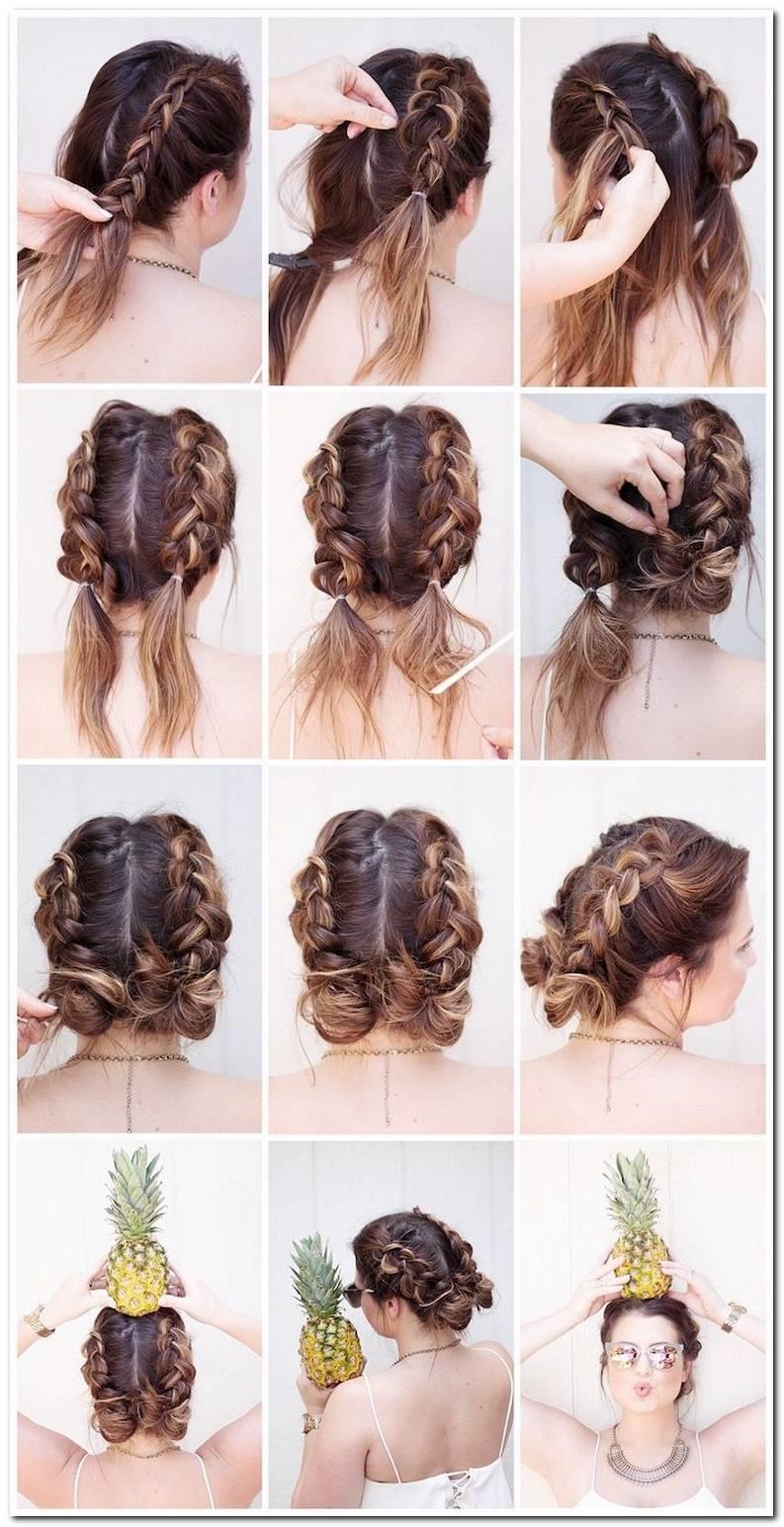 Einfache Frisuren Mit Mittellangen Haaren