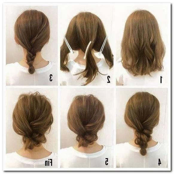 Einfache Frisuren Selber Machen Schulterlanges Haar