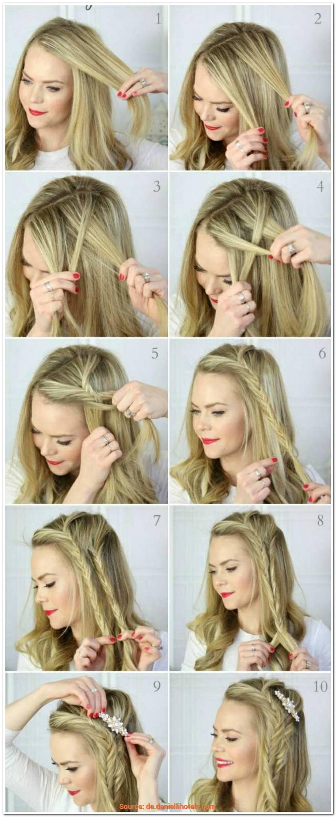 Einfache Oktoberfest Frisuren Mittellange Haare